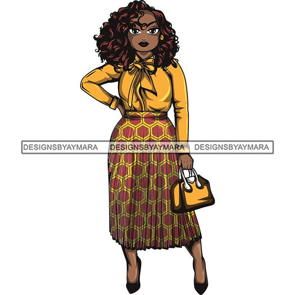 Afro Classy Lola Elegance Glamour Church Lady .SVG Clipart Vector Cutting Files For Circuit Silhouette Cricut and More!