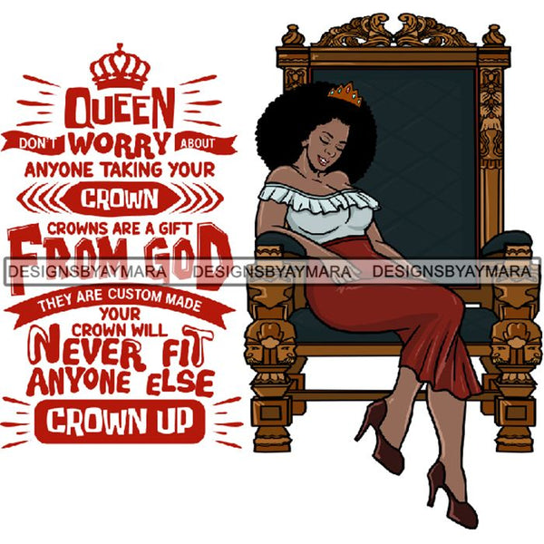 Afro Queen Goddess Melanin Nubian Glamour .PNG Print Files Not For Cutting