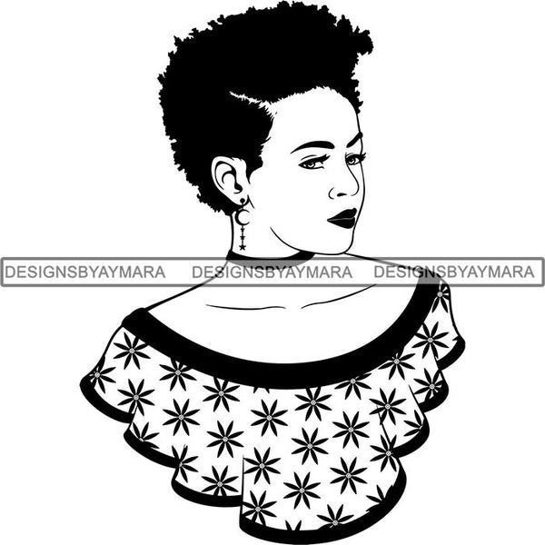 Afro Woman SVG Cut Files For Silhouette and Cricut
