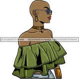 Melanin Bald Short Hairstyle Queen Goddess Nubian .SVG Cut Files For Silhouette and Cricut and Much More