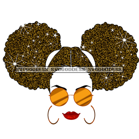 Black Woman Afro Hair In Sunglasses JPG PNG  Clipart Cricut Silhouette Cut Cutting