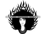 Afro Woman SVG Nubian Melanin Goddess Queen Diva Classy Lady .SVG .EPS .PNG Vector Clipart Digital Cricut Circuit Cut Cutti