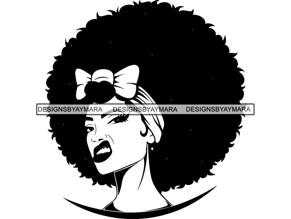 Download Afro Beautiful Black Woman SVG African American Ethnicity ...