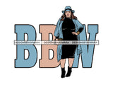 Plus Size Curvy Woman SVG Thick Goddess BBW African American Ethnicity Queen Diva Classy Lady .SVG .PNG .JPG Vector Clipart Not For Cutting