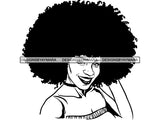 Afro Beautiful Black Woman SVG African American Ethnicity Voluptuous Body Woman Power Independent Woman Afro Queen Diva Classy Lady SVG PNG EPS JPG Clipart Cutting Cut  Cricut  T-shirt Design
