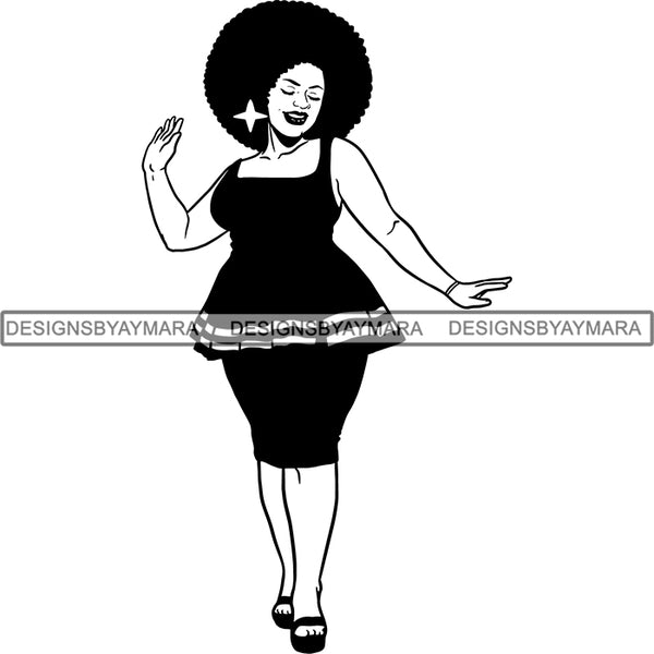 Afro Caribbean Aruba Goddess SVG Cutting Files For Silhouette Cricut and More