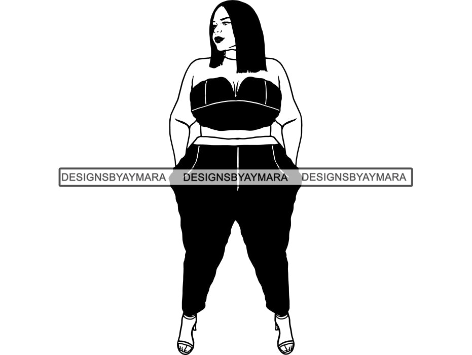 Thick Woman Svg Bbw Big And Bougie Sexy African American -4015