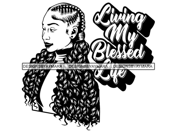 Afro Woman SVG Braids Dreads Hairstyle Nubian Melanin Black Queen African American Ethnicity .SVG .EPS .PNG Vector Clipart Cricut Circuit Cut Cutting