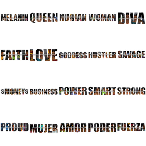 Bundle 20  Melanin Queen Words Quotes Phrases Business Logo SVG JPG PNG Vector Designs Clipart For Cricut Silhouette Cut Cutting and More!