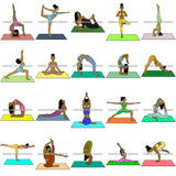 Bundle 20 Woman Doing Yoga Meditation Wellness Meditate Relax Inhale Exhale Pose Position .SVG Cutting Files For Silhouette Cricut and More!