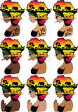 Bundle 9 African American Woman Goddess Safari Savanna Africa Continent SVG Files For Cutting and More!