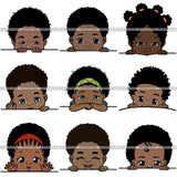 Bundle 9 Peek a Boo I See You Baby Boo PNG File For Print Not For Cutting