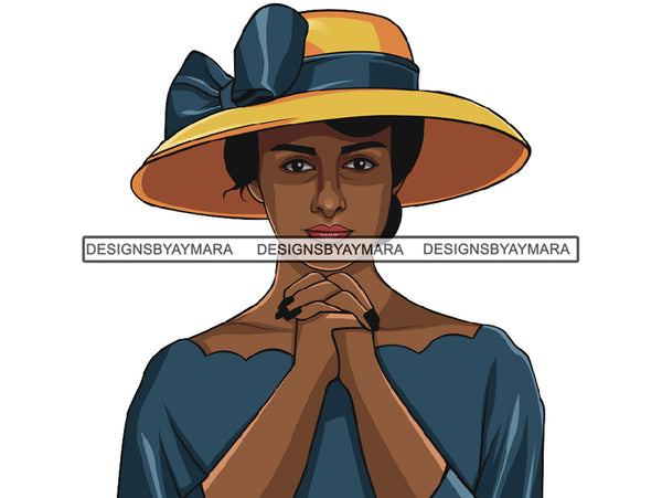 Afro Woman Praying God Lord Believe Faith .PNG .JPG .SVG Vector Cutting Files