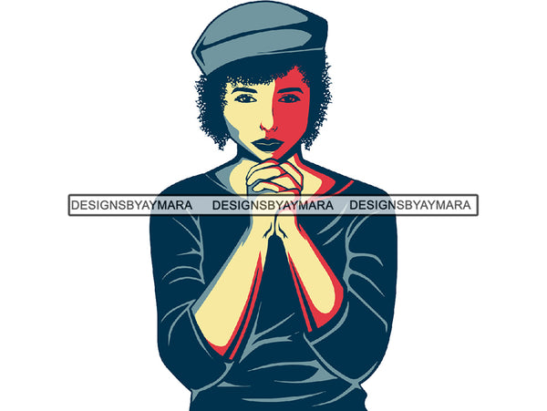 Woman Praying God Believe Religion Faith African American Ethnicity Old School Hat Church Classy Lady Life Quotes Spirit Awakening Queen Diva Clipart PNG JPG