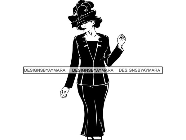 Classy Woman SVG Church Lady Nubian Beauty Salon Make Up Fashion Model Queen Diva Classy Lady Princess  .SVG .EPS .PNG Vector Clipart Cricut Circuit Cut Cutting