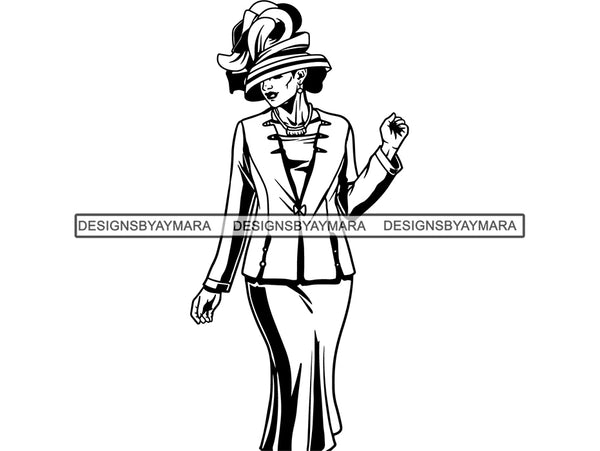 Classy Woman SVG Church Lady Nubian Glamour Fabulous Make Up Fashion Model Queen Diva Classy Lady Princess  .SVG .EPS .PNG Vector Clipart Cricut Circuit Cut Cutting