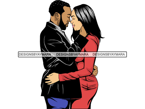 Black Couple Goals SVG  Relationship African Ethnicity Strong Family Falling in Love Happiness Young Adult EPS .PNG Vector Clipart Not For Cutting