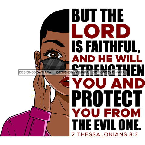 But The Lord Is Faithful Black Woman SVG JPG PNG Vector Clipart Cricut Silhouette Cut Cutting1