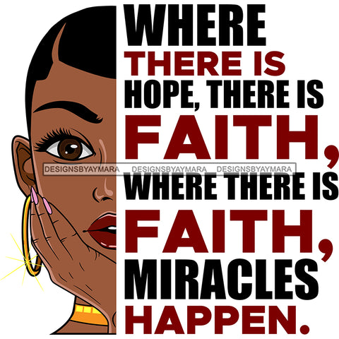 Where There Is Hope There Is Faith Black Woman SVG JPG PNG Vector Clipart Cricut Silhouette Cut Cutting1