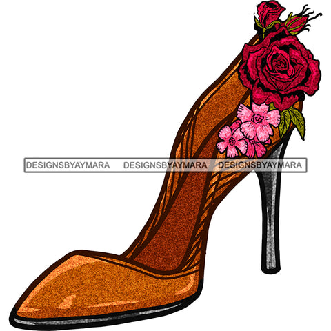 Slaying It In My 40's Gold Shoe JPG PNG  Clipart Cricut Silhouette Cut Cutting