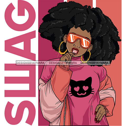 Black Girl Magic Swag Pink SVG JPG PNG Vector Clipart Cricut Silhouette Cut Cutting1