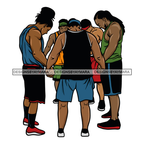 Black Men Praying Prayers Pray Together Unite All Lives Matter Attractive Black Man Hipster Male Guy Hombre Macho Manly SVG Cutting Layered Files
