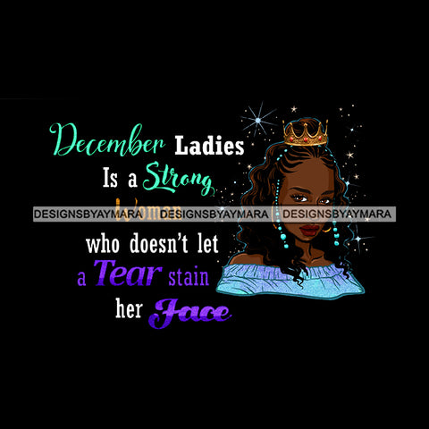 December Ladies Lady Afro Black Woman Crown   JPG PNG  Clipart Cricut Silhouette Cut Cutting