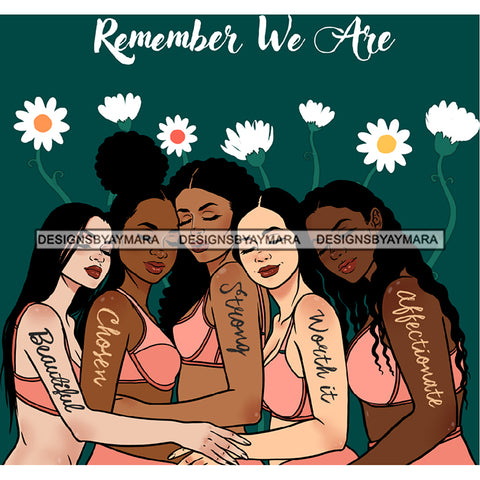 Remember We Are Ladies Lady Afro Black White Woman  JPG PNG  Clipart Cricut Silhouette Cut Cutting