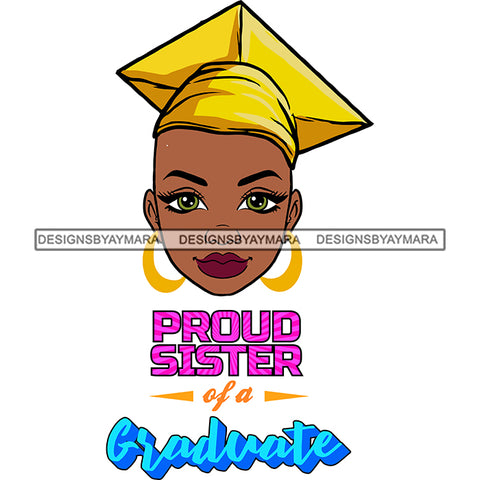 Afro Woman Graduate Wearing Cap Academic Achievement Diploma Graduation Bald Hairstyle SVG JPG PNG Cutting Files For Silhouette Cricut More