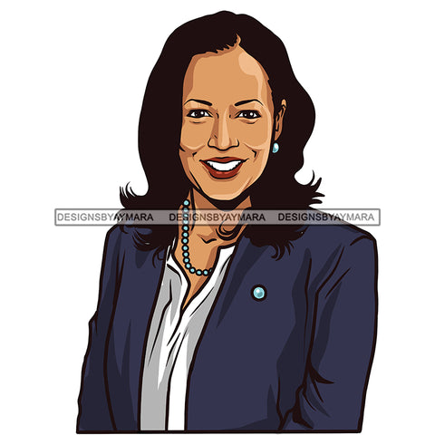 Kamala Harris VP Smiling Portrait JPG PNG  Clipart Cricut Silhouette Cut Cutting