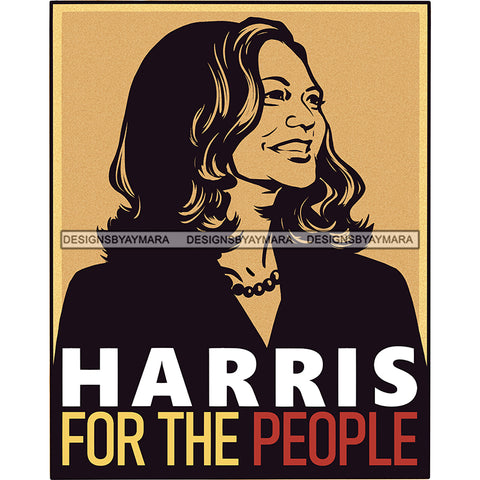 Harris For The People Color Background JPG PNG  Clipart Cricut Silhouette Cut Cutting