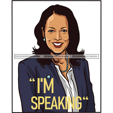I'm Speaking VP Kamala Harris Portrait JPG PNG  Clipart Cricut Silhouette Cut Cutting