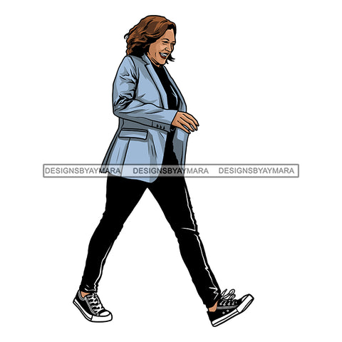 Vice President Kamala Harris Stepping  JPG PNG  Clipart Cricut Silhouette Cut Cutting