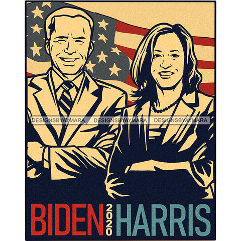 Biden Harris Silhouette Color Background JPG PNG  Clipart Cricut Silhouette Cut Cutting