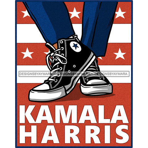 Kamala Harris In Chucks Poster Banner JPG PNG  Clipart Cricut Silhouette Cut Cutting