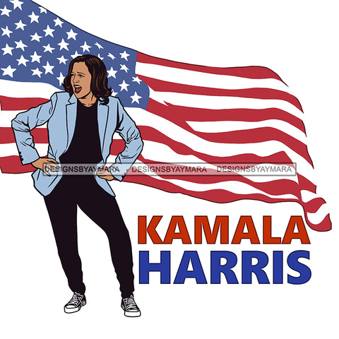 Kamala Harris Hands On Hips  JPG PNG  Clipart Cricut Silhouette Cut Cutting