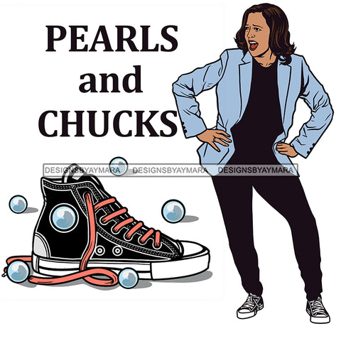Pearls And Chucks JPG PNG  Clipart Cricut Silhouette Cut Cutting