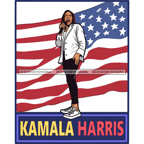 Kamala Harris Speaking In Pearls And Chucks JPG PNG  Clipart Cricut Silhouette Cut Cutting