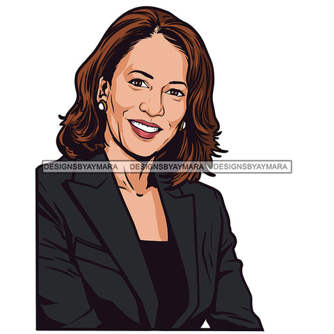 Kamala Harris Portrait  JPG PNG  Clipart Cricut Silhouette Cut Cutting