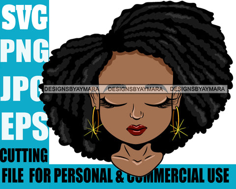 Afro Cute Lili Designs For Commercial And Personal Use Black Woman Nubian Queen Melanin SVG Cutting Files For Silhouette Cricut and More