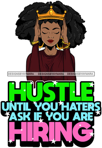 Afro Lola Mom Wife Boss Lady Hustle Life Quotes .SVG Cutting Files For Silhouette Cricut and More!