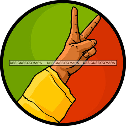 Rasta Rastafarian Man Hand Peace Sign Marijuana Marihuana Cannabis Weed Hemp SVG JPG PNG Vector Clipart Cricut Silhouette Cut Cutting