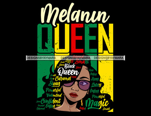 Afro Lola Melanin Queen Powerful Black Girl Magic Melanin Popping Hipster Girl SVG JPG PNG Layered Cutting Files For Silhouette Cricut and More
