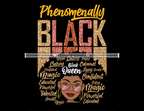 Afro Lola Phenomenally Swag Powerful Loving Smart Black Girl Magic Melanin Popping Hipster Girl SVG JPG PNG Layered Cutting Files For Silhouette Cricut and More