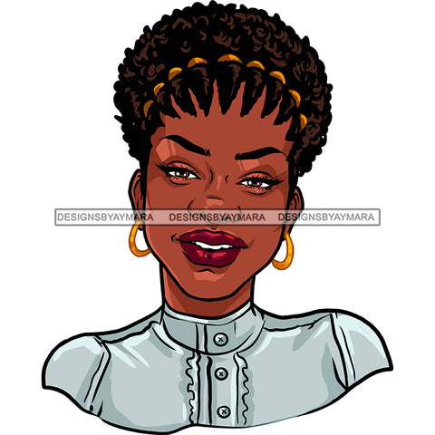 Black Woman Afro In Gray Top Smiling JPG PNG  Clipart Cricut Silhouette Cut Cutting