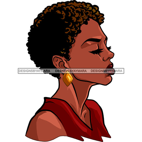 Black Woman Afro In Burgundy Top  JPG PNG  Clipart Cricut Silhouette Cut Cutting