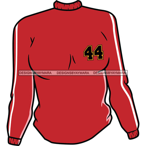 Red Mock Neck Sweater With 44 Top SVG JPG PNG Vector Clipart Cricut Silhouette Cut Cutting