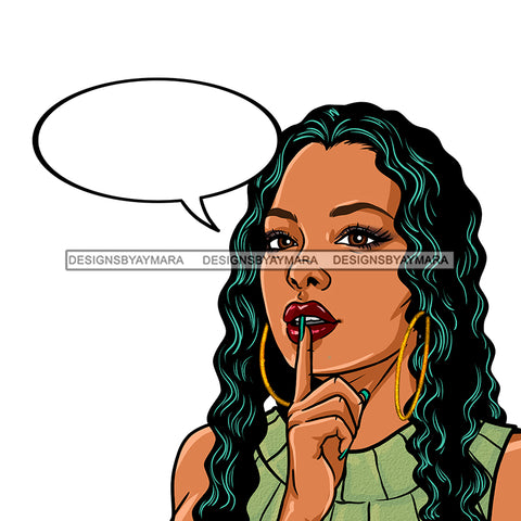Black Woman Long Hair Conversation Bubble JPG PNG  Clipart Cricut Silhouette Cut Cutting