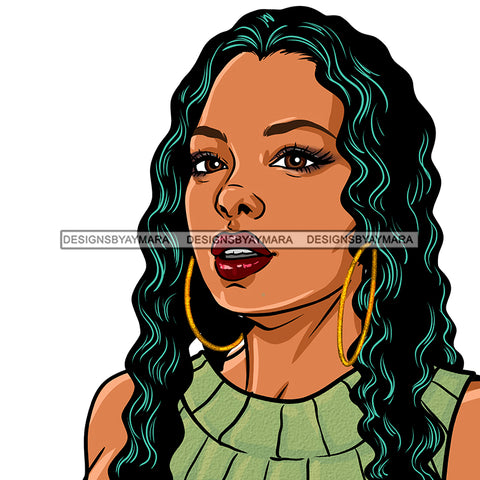 Black Woman Long Hair In Green No  FingerJPG PNG  Clipart Cricut Silhouette Cut Cutting