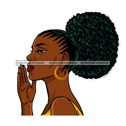 Melanin Woman In Color Speaks JPG PNG  Clipart Cricut Silhouette Cut Cutting